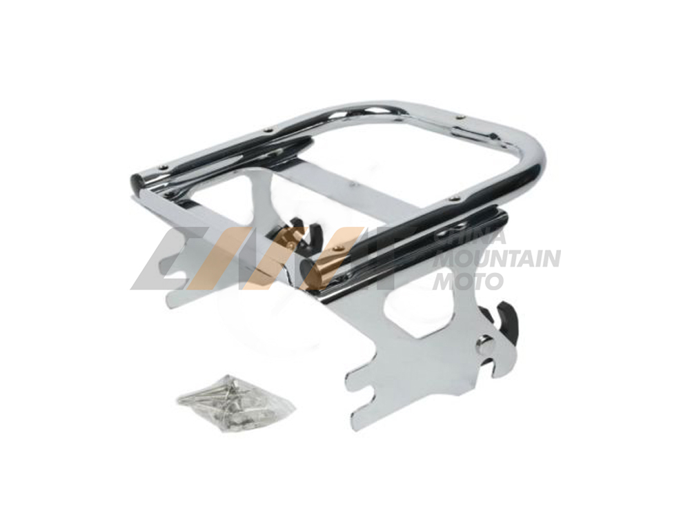 Chrome 2 UP Tour Pak Pack Luggage Rack case for Harley Davidson FLHT FLHX FLTR 1997-2008 chrome motorcycle two up tour pak luggage rack rail case for harley touring flhr flht flhx fltr 2009 2017
