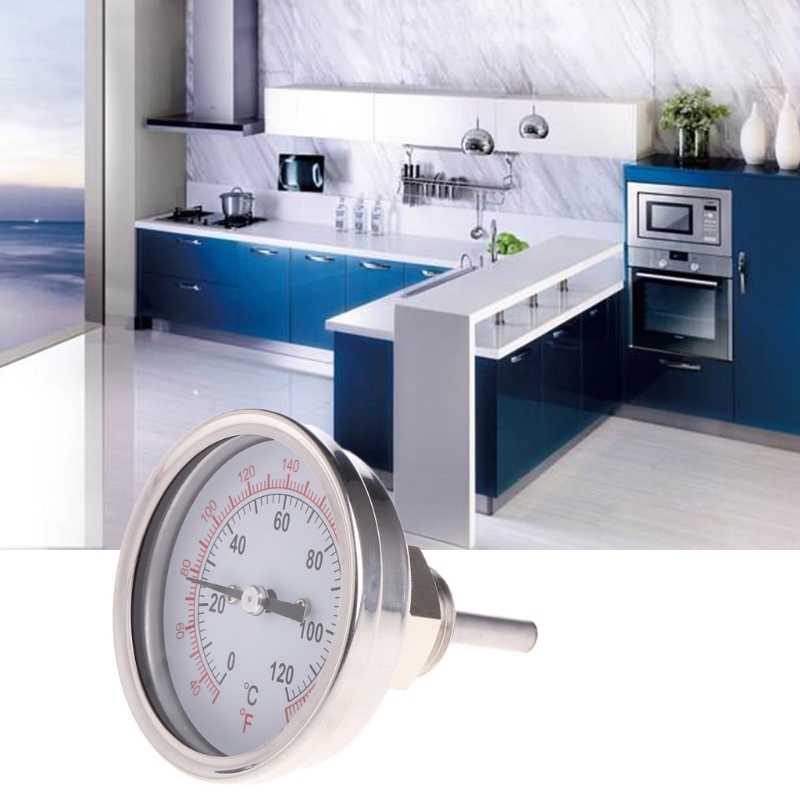 Термометр из нержавеющей стали с циферблатом 1/2 дюйма для конденсатора или заварочного горшка с лунным блеском, тестер температуры, инструменты 11