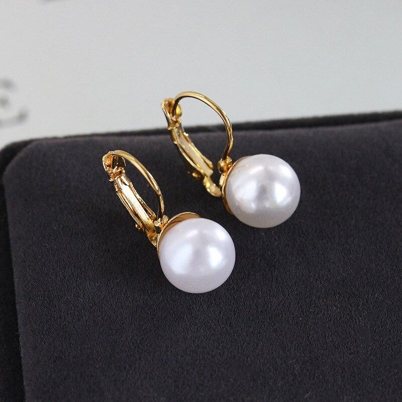 Jewelry Simulated Pearl Ball Dangle Earring High End Wedding Jewelry