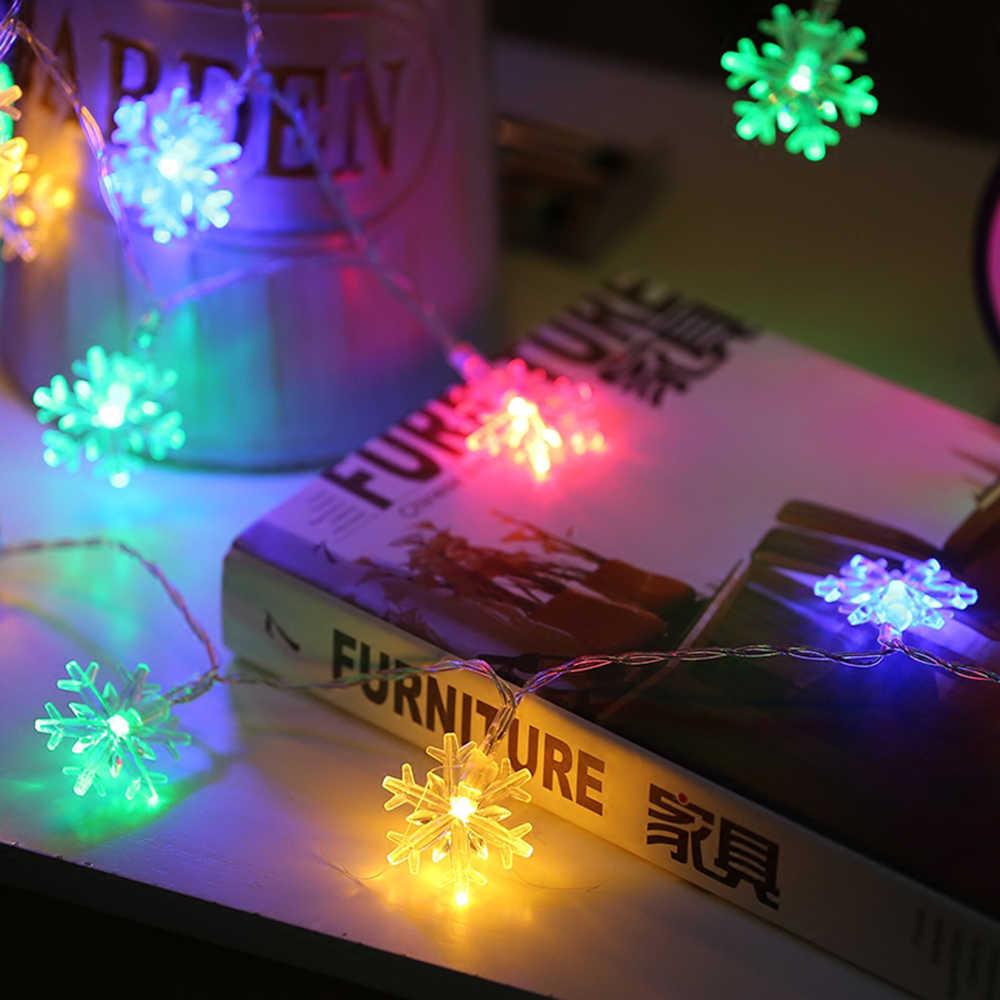 ĐÈN LED Dây Cổ Tích Ánh Sáng Bông Tuyết Vòng Hoa Cửa Sổ Cây Thông Trang Trí  Tiệc Cưới Ngoài Trời Nhiều Màu Sắc Ánh Sáng 1 M 5 M JQ|Dây Đèn