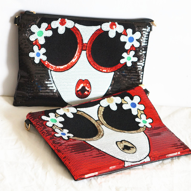 Women's new Bright Character clutch Bag 4