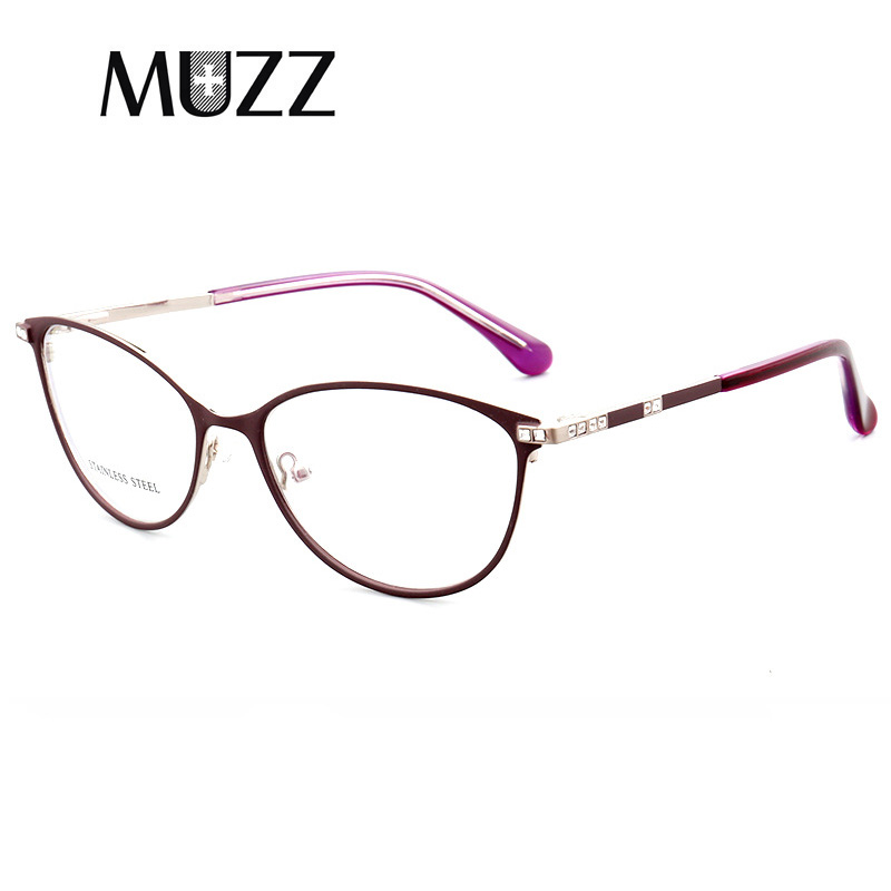7fc0d0875 NOVO Estilo Gato Olho Mulheres Diamantes de moda Armações de Óculos Ópticos  Óculos de Armação de Prescrição Mulheres Óculos Limpar óculos de Miopia