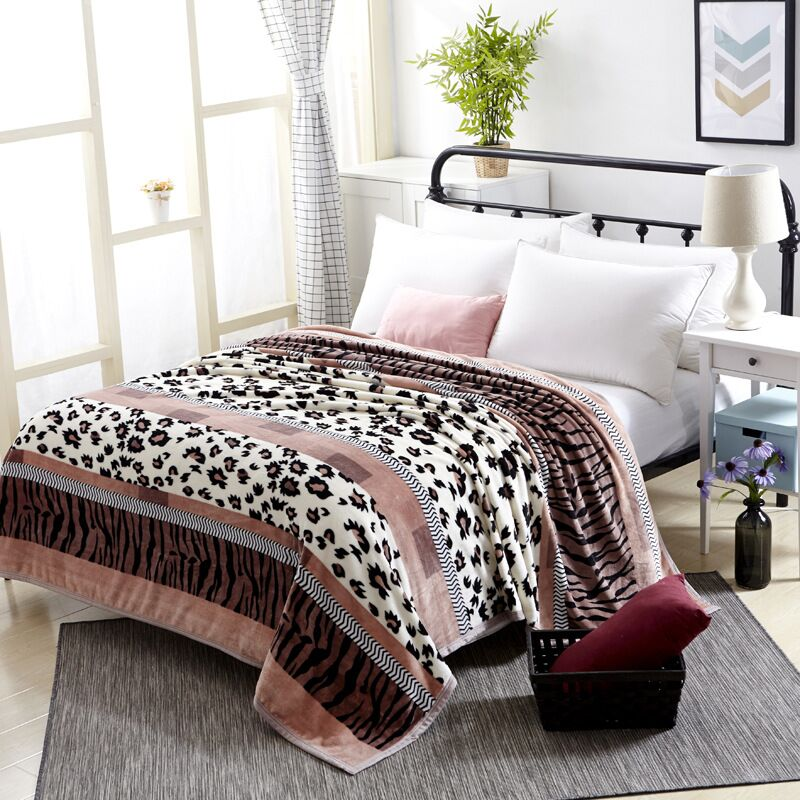Hap deer Super Soft Coral Fleece Blanket Warm Sofa Cover Twin Queen Size Fluffy Flannel Mink Throw Plaid Plane Blankets 19Colour