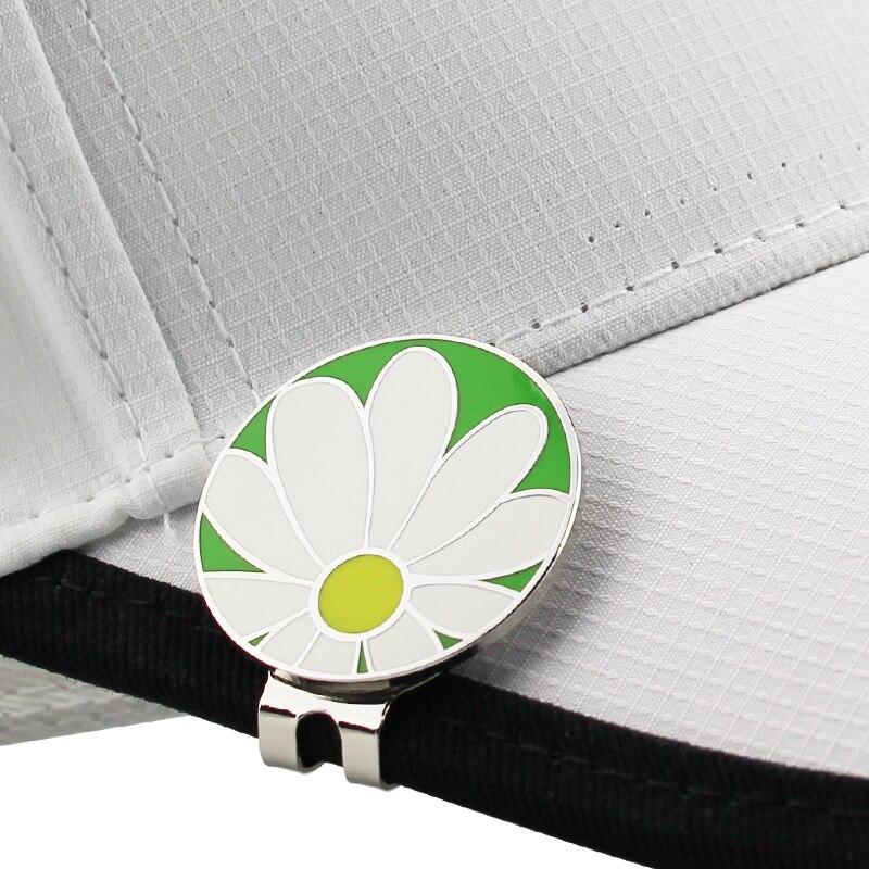 """Flower Golf Cap Clip Golf Ball Marker Alloy Professional 1.18"""""""