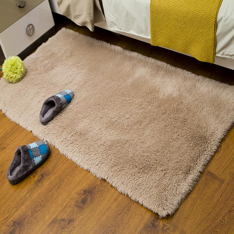 Moelleux épaissi lavable chaud soie tapis enfants chambre salon chambre pleine de fenêtre flottante chevet tapis moderne shaggy