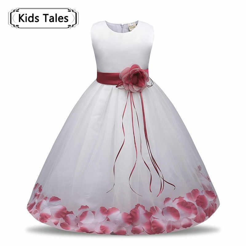 69de05a60dc1 Flower Girl Dress Summer Girl Clothing 2018 Baby Wedding Veil Dresses Kids  Wear Costume Party For