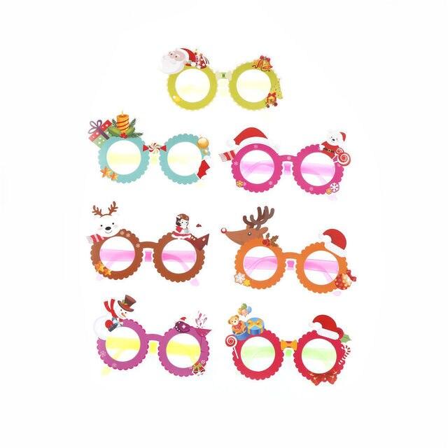1PCS Cute Cartoon Funny Christmas Party Glasses Happy Birthday ...