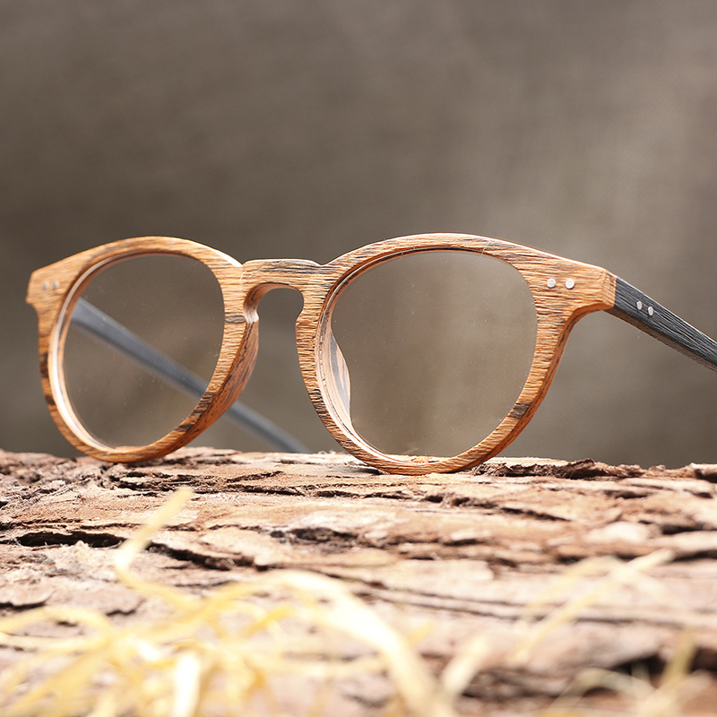 11d45ee7a9 2018 Hot Sale Men Women Wooden Plain Glasses Myopia glasses Wood Frame  Sunglasses with Clear Lenses