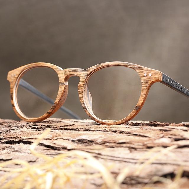 2018 Vente Chaude Hommes Femmes En Bois Plaine Lunettes Myopie lunettes  Cadre En Bois lunettes de 3e9b8329aebc