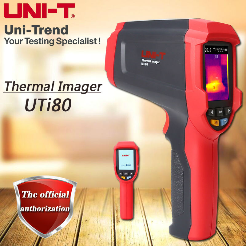 UNI-T UTi80 Infrared Thermal Imaging Termômetro/Dual Laser Point/Gama-30C para 400C