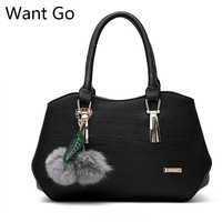 Want Go The Newest Office Lady Pu Leather Handbag Fashion Women Solid Color Hobos Shape Day Tote Bag Hot Sale Female Party Bag