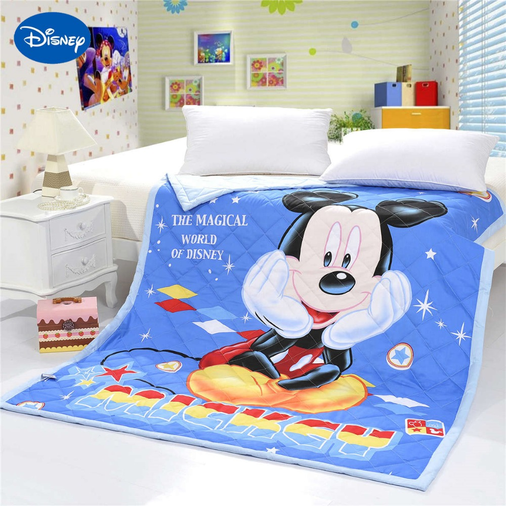 3D Disney Cartoon Mickey Mouse Printed Quilts Comforters Bedding Cotton Cover 150*200cm Size Soft Summer Boys Baby Bedroom Blue3D Disney Cartoon Mickey Mouse Printed Quilts Comforters Bedding Cotton Cover 150*200cm Size Soft Summer Boys Baby Bedroom Blue