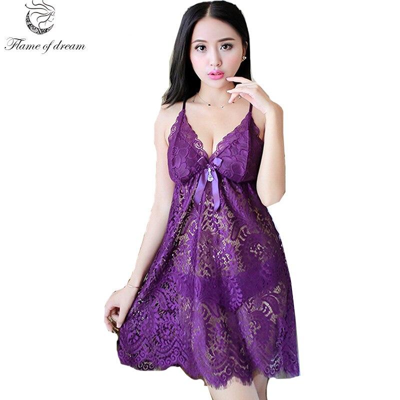 Sexy Nightgown sleepwear Nightgown Sleeping Dresses nightwear for women