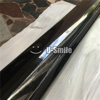 3 Layers Black Gloss Vinyl Wrapping Film Ultra Glossy Black Vinyl Wrap Foil Sticker Air Bubble Free For Car Styling