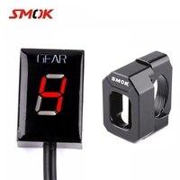 SMOK Motorcycle 1 6 Level Ecu Plug Speed Gear Display Indicator Holder For Suzuki GSXR 600 Intruder 800 V Strom SV 650 SV650 Red