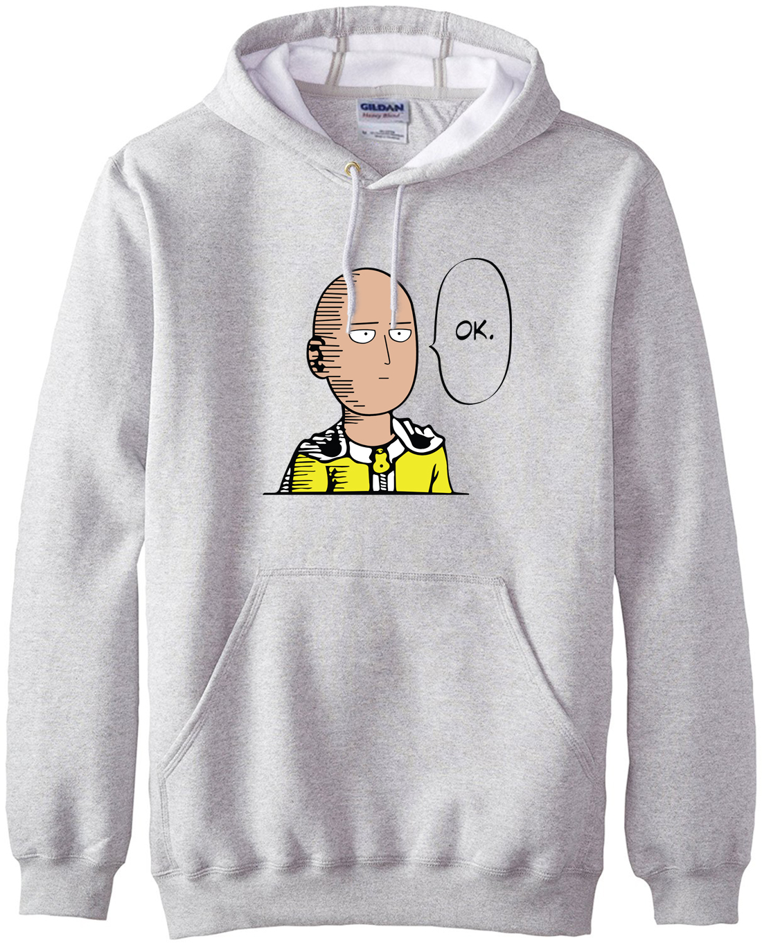 Neue ankunft Anime One Punch Mann Hoodies OK Printed Männer Sweatshirts 2017 frühling winter warme fleece lose fit herren sportbekleidung