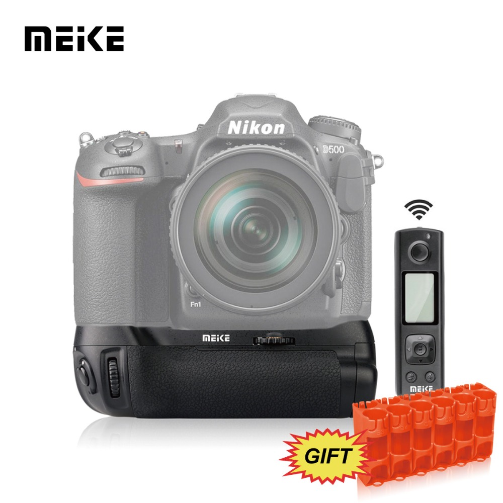 Neewer 2.4G Wireless Remote Control Battery Grip Replacement MB-D17 Work with 1 Piece EN-EL15 Rechargeable Battery or 8 Pieces AA Batteries for Nikon D500 Camera