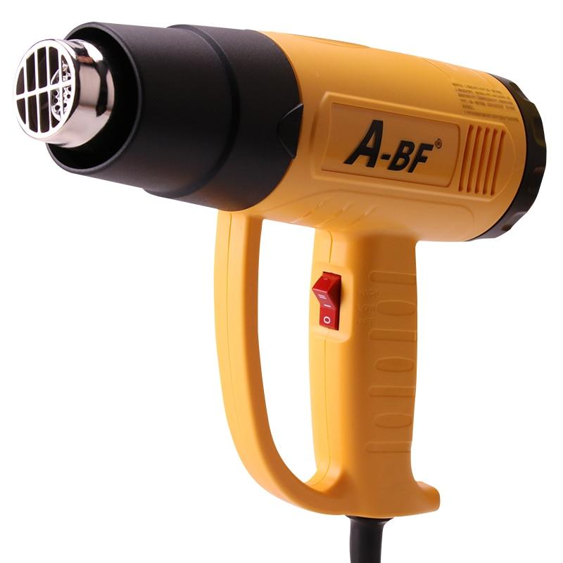 A-BF industriel thermorétractable pistolet en plastique torche de soudage chaud sèche-cheveux voiture feuille torréfaction 2000W FQ-2000S affichage numérique