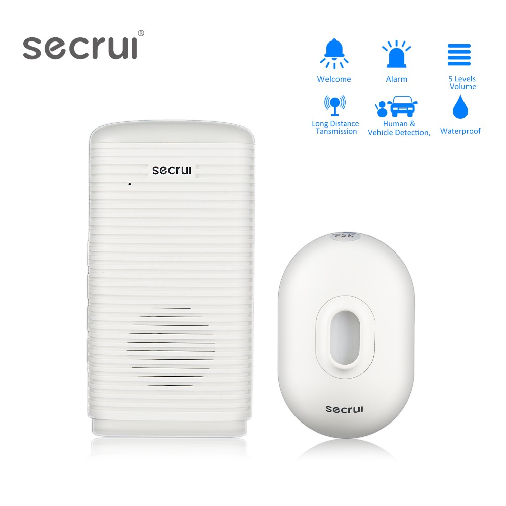 SECRUI Wireless Security Alarm Waterproof PIR Motion Sensor Detector Patrol Infrared Driveway Garage burglar Alarm System лагунов к я белый пёс синий хвост
