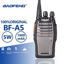 Buy Baofeng BF-A5 Single Band UHF Walkie Talkie 5W 16CH A5 Portable Two Way Radio VOX Function Radio Comunicador Woki Toki Ham Radio directly from merchant!