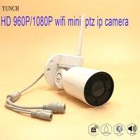 YUNCH 960P 10180P Yoosee P2P MINI IP PTZ Bullet Network Camera Outdoot Waterproof Support Onvif Audio