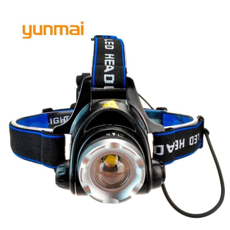 yunmai Power Led Headlight Waterproof Headlamp 4000 lumen Cree xml t6 Head Lamp Torch use 4 AA Battery Hunting Fishing Light
