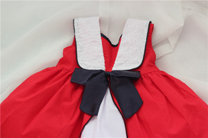 Image 5 - Summer Baby Girl Sleeveless Red Vintage Spanish Dress Red Palace Style Dress for Girls Party Dress Princess Dress 100% Cotton