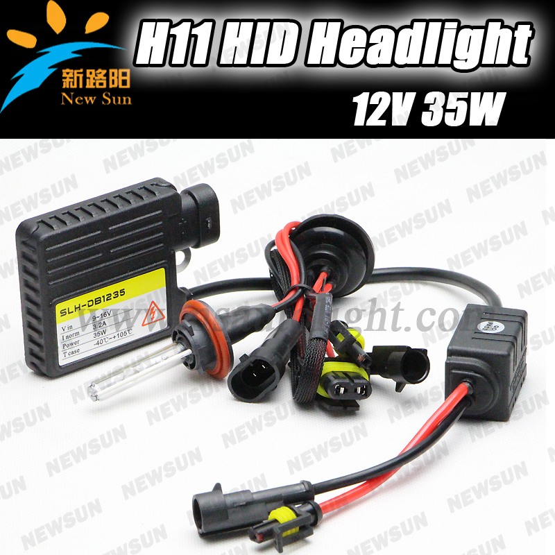 ФОТО Promotion! super slim ballsat 2pcs H11 H9 H8 xenon HID kit 35w 12v single beam auto headlight xenon bulbs hid