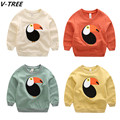 V-TREE Boys Girls Cotton Hoodies Spring Baby Boy Long Sleeve TShirts Toddler Bird T Shirt Children Sweatshirt Teenager Cloth