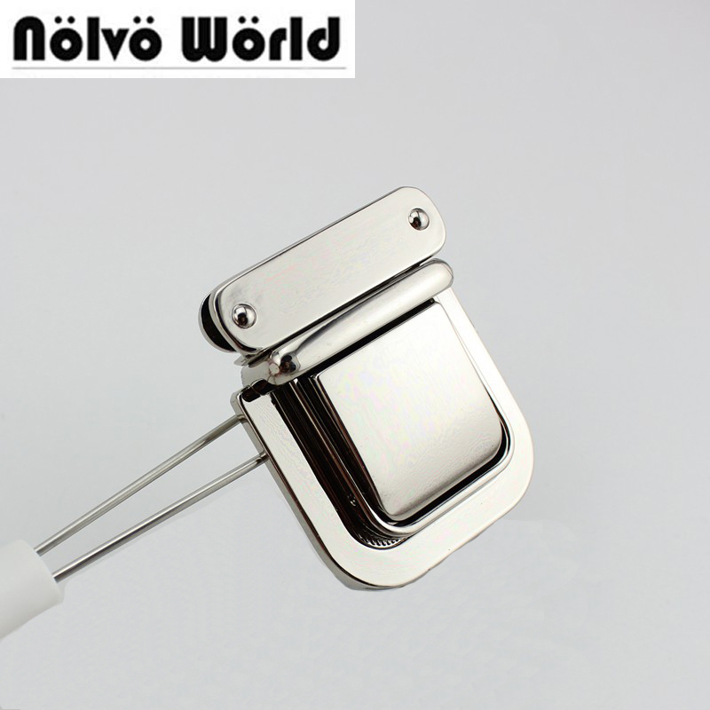 10sets 54 43mm High quality lock handmade woman bag making gunmetal pressed lock briefcase lock for