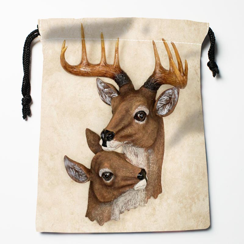 Custom Deer Drawstring Bags Custom Storage Bags Storage Printed Gift Bags More Size 27x35cm Compression Type Bags