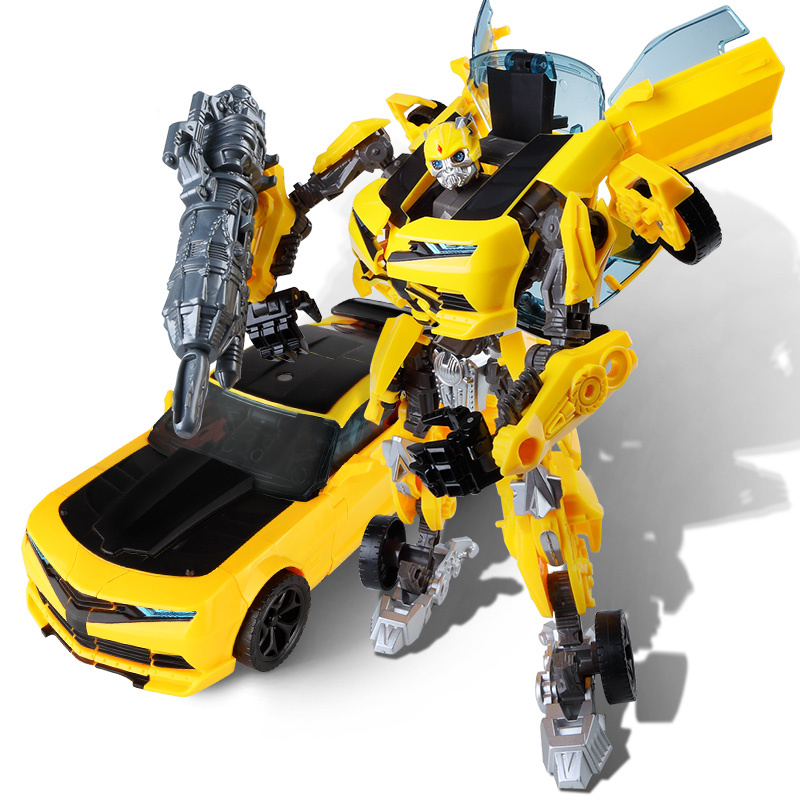 Oversize 24CM Transformation Robot Car Toys Boy New Movie 5 Anime Action Figures Model Plastic ABS Toy Kid Classic Birthday Gift