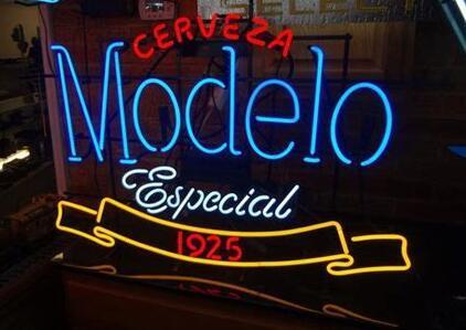 MODELO Glass Neon Light Sign Beer Bar