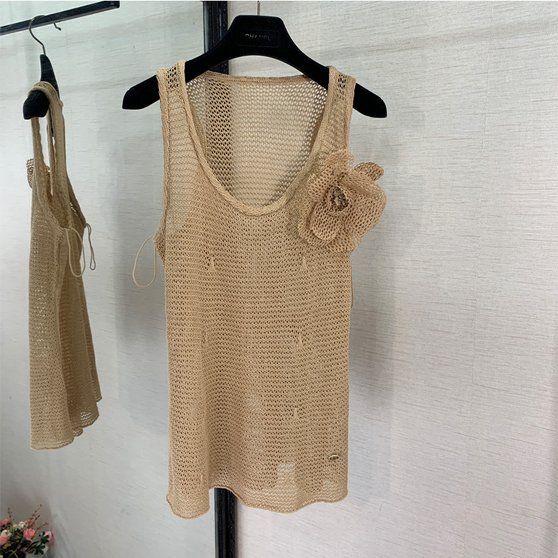 6 5 Special offer High end custom Fashion woman casual mesh hole woman vest top Seaside