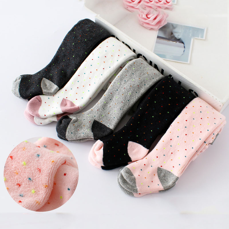 2pc/lot Baby Thick Warmkeeping Tights Cotton Baby Girl Pantyhose Kid Infant Knitted Collant Tights Soft Infant Clothing