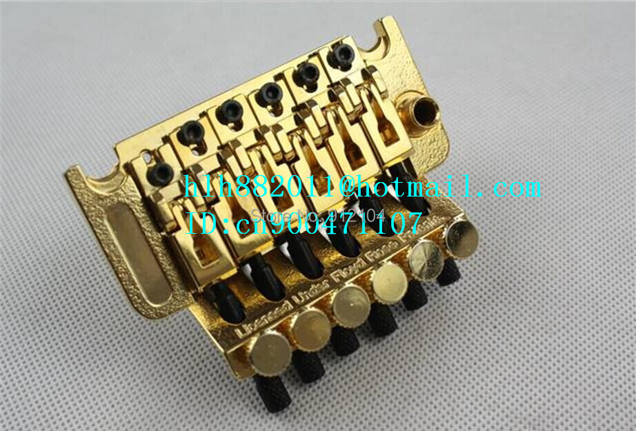 free shipping new double wave electric guitar bridge in gold made in Korea    8289 free shipping new electric guitar jade tuning peg in gold guitar button wj44 n22