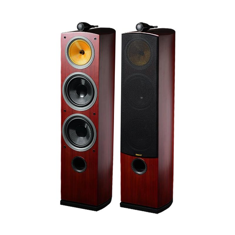 Three-way Hi-Fi Wood Speakers 3 Ways Floorstanding Hifi Sound Speaker For Surround Powerful System Acoustic