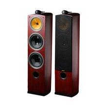 Трехполосный Hi-Fi деревянные колонки 3 способа напольный Hifi звуковой динамик для объемной мощной акустической системы