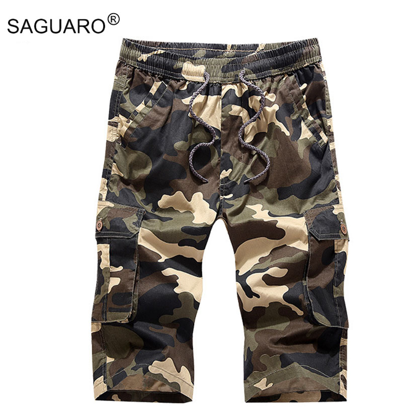 New 2018 Summer Militar Shorts Men Casual Camouflage Loose Cargo Shorts Multi-Pockets Plus Size Short homme M-4XL
