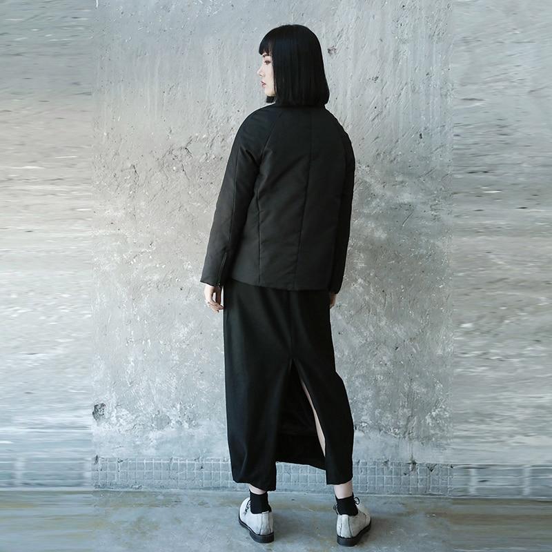 Mode De Manches Femelle Corée Col Blanc Black Hiver Manteau xitao Lyh2393 Parka Couleur Montant Femmes Lâche Duvet Plein Solide Canard 2018 w8xcvEpq