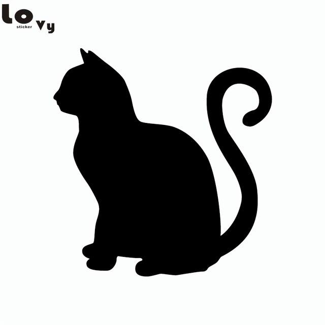 Gato Sentado Silhueta Do Gato Dos Desenhos Animados Animal