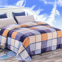 Plaid Fleece Blanket On The Bed Bedspread Plaid On The Bed Blankets For Beds Throw Manta
