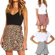 Женские юбки, женские повседневные вечерние юбки в стиле ретро с высокой талией, короткая юбка с принтом,, дешевые сексуальные юбки миди