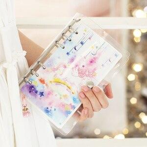 Image 3 - 2019 ins A6 Kawaii coreano bonito Material Escolar Caderno do Viajante Mensais e Semanais Agendas Planejador Escola Papelaria presente Diário