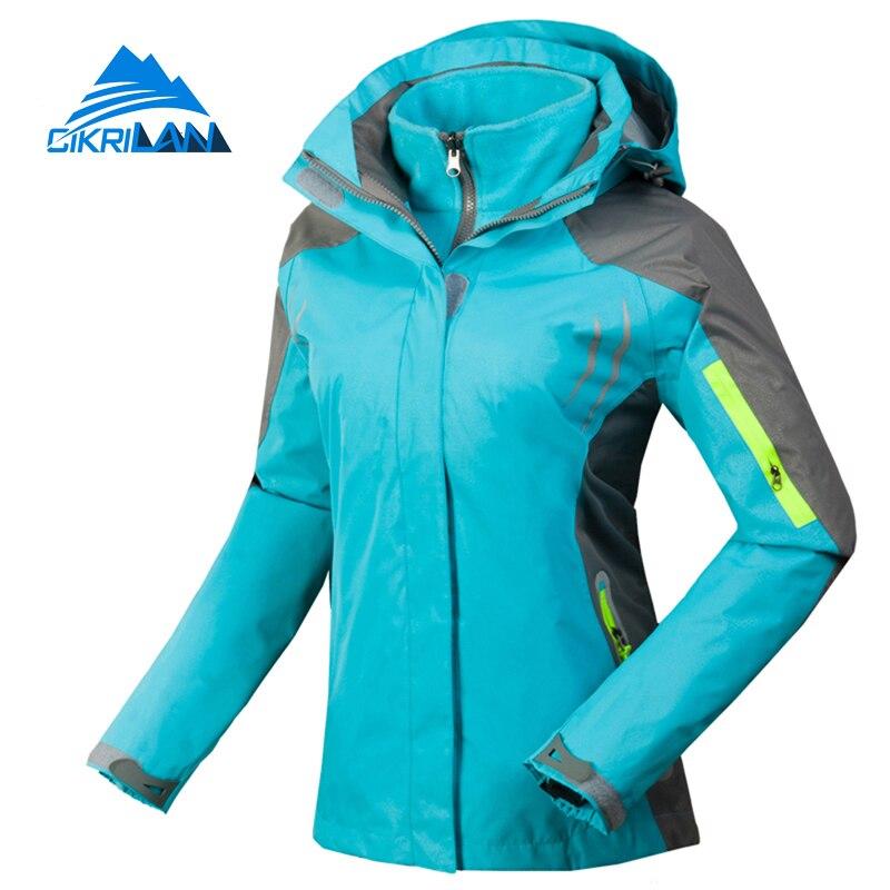 Winter Sport Windstopper Waterproof Outdoor Camping Hiking Jacket Women Snowboard Ski Coat Warm Fleece Liner Chaquetas