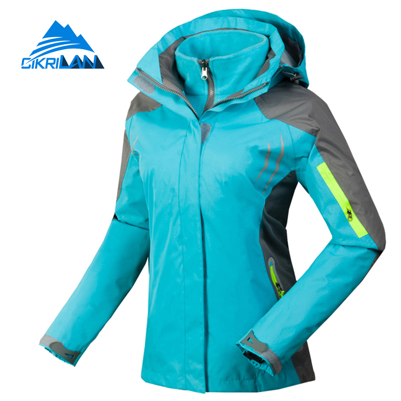 Winter Sport Windstopper Waterproof Outdoor Camping Hiking Jacket Women Snowboard Ski Coat Warm Fleece Liner Chaquetas Mujer