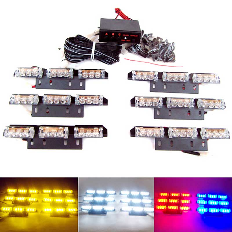 Car warning lights Flash Light.Police Light   Flashing Emergency Firemen Lamp 3 Mode 12V. Amber light