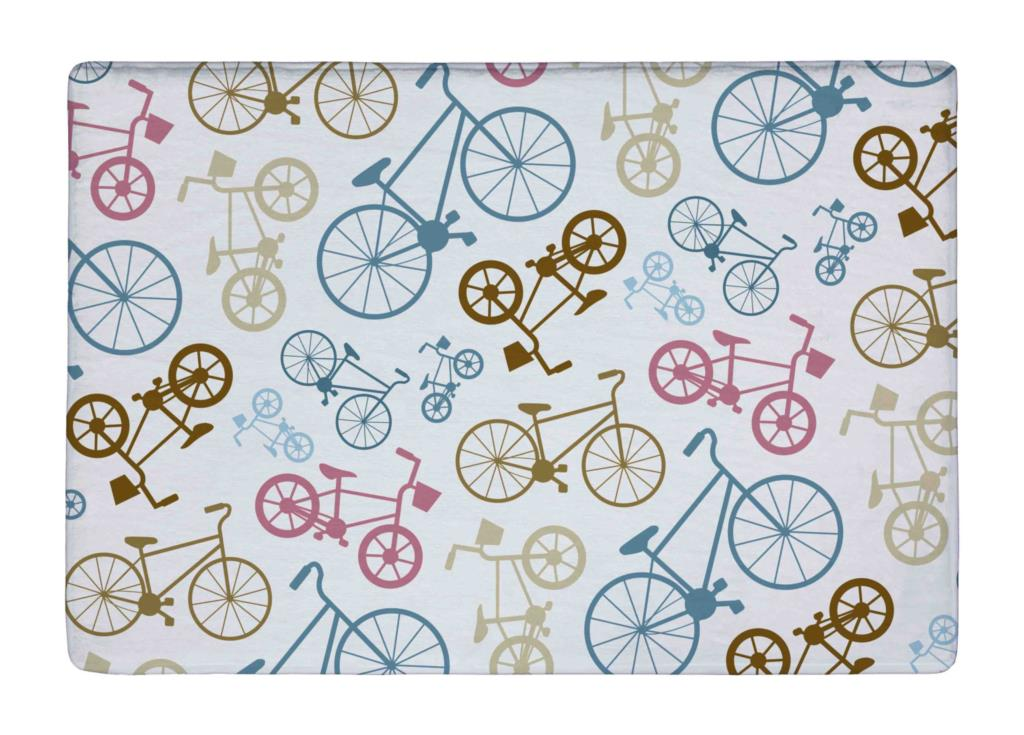 Floor Mat Vector Bicycle Texture Pop Art Print Non slip Rugs Carpets alfombra For font b