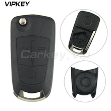 Remotekey flip car key case 3 button for Vauxhall Opel Corsa D Astra H Vectra C Zafira remote key case 2005 2006 2007 2008 2009 2x car led number license plate light fit for vauxhall opel corsa c d astra h j zafira b corsa c d e meriva a b 8000k 12v 0 5a