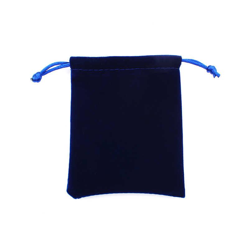 8*10 سنتيمتر عالية الجودة الأزرق حقائب قطيفة تغليف المجوهرات عرض الرباط آلة تعبئة الهدايا الحقائب والحقائب الجملة